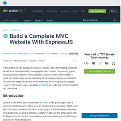 Build a Complete MVC Website With ExpressJS