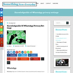 Complete Guide for WhatsApp Privacy Settings & WhatsApp Feature