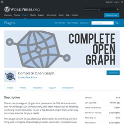 Complete Open Graph – WordPress plugin