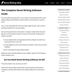 The Complete Novel Writing Software Guide