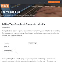 Adding Your Completed Courses to LinkedIn - Mijingo