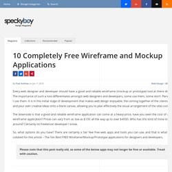 10 Completely Free Wireframe and Mockup Applications