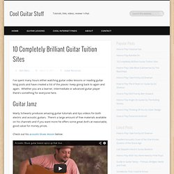 10 Completely Brilliant Guitar Tuition Sites
