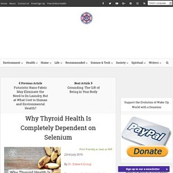 Why Thyroid Health Is Completely Dependent on Selenium