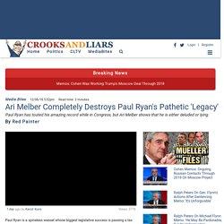 Ari Melber Completely Destroys Paul Ryan's Pathetic 'Legacy'