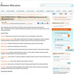 100 COMPLETELY FREE Distance Learning Resources for Homeschoolers