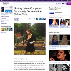 Lindsay Lohan Completes Community Service in the Nick of Time
