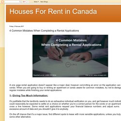 Houses For Rent in Canada: 4 Common Mistakes When Completing a Rental Applications