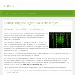 Completing the digital skills challenges