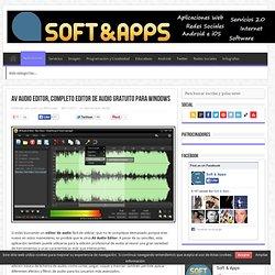AV Audio Editor, completo editor de audio gratuito para Windows