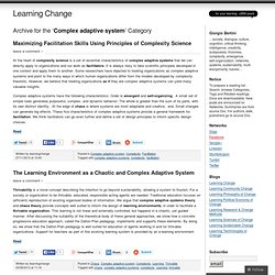 Complex adaptive system « Learning Change