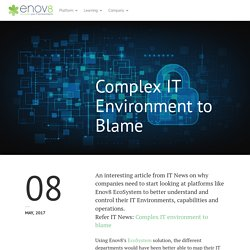 Complex IT Environment to Blame - Enov8