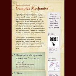 COMPLEX MECHANICS