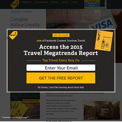 Complex Airline Loyalty Programs Breed a New Crop of Travel Consultants