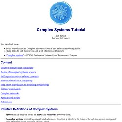 Complex systems tutorial