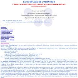 Le complexe de l'albatros Dr Alain Gauvrit