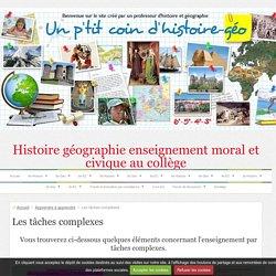 La tâche complexe en histoire-geographie