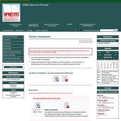 Tâches Complexes - IREM Clermont-Ferrand