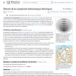 Théorie de la complexité (informatique théorique)