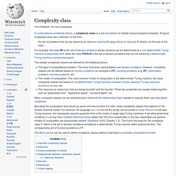 Complexity class