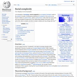 Social complexity