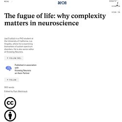 The fugue of life: why complexity matters in neuroscience