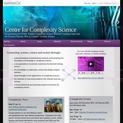 Centre for Complexity Science at the University of Warwick
