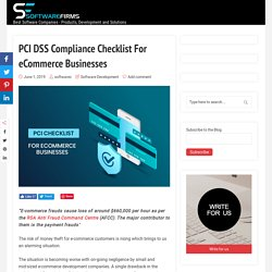 PCI DSS Compliance Checklist For eCommerce Businesses
