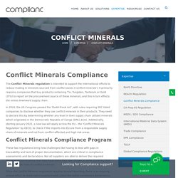 conflict minerals compliance services