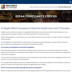 HIPAA Compliant Networks Pro Group Networks