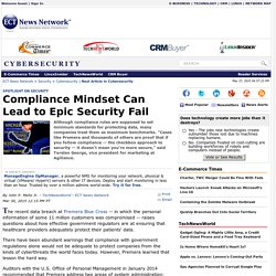 Compliance Mindset Can Lead to Epic Security Fail