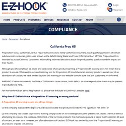 Compliance - E-Z-Hook, A Division of Tektest, Inc.