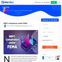 NBFC Compliance under FEMA - Enterslice Fintech