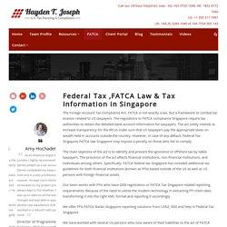 Fatca Tax, Fatca Law, Fatca Banks & Fatca Compliance