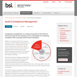 Audit & Compliance Management - Entropy Software