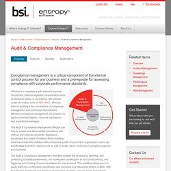Audit & Compliance Management - Entropy Software