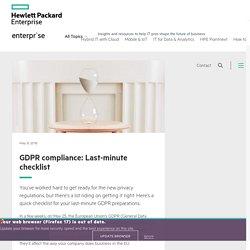 GDPR compliance: Last-minute checklist