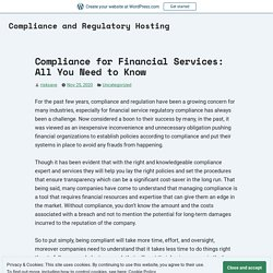 Compliance for Financial Services: All You Need to Know