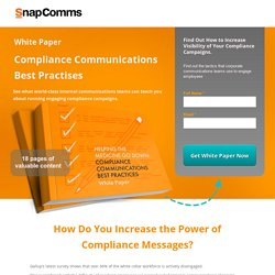 Compliance - SnapComms