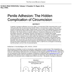 Penile Adhesion: The Hidden Complication of Circumcision