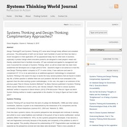Systems Thinking and Design Thinking: Complimentary Approaches?