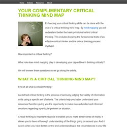 Your Complimentary Critical Thinking Mind Map