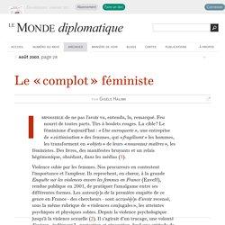 Le « complot » féministe, par Gisèle Halimi (Le Monde diplomatique, août 2003)