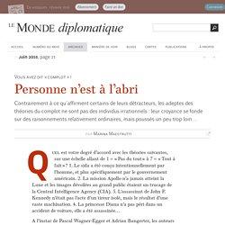 Personne n'est à l'abri du complotisme, par Marina Maestrutti (Le Monde diplomatique, juin 2015)
