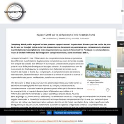 Rapport 2018 sur le complotisme et le négationnisme