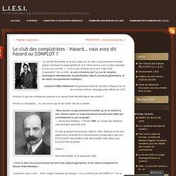 Le club des complotistes – Hasard… vous avez dit hasard ou COMPLOT ? « L.I.E.S.I.-Mozilla Firefox
