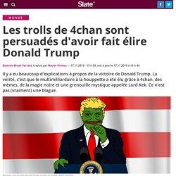 Les complotistes de 4chan sont persuadés d'avoir fait élire Donald Trump