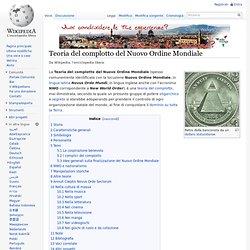 Teoria del complotto del Nuovo Ordine Mondiale
