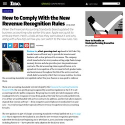 How to Comply With the New Revenue Recognition Rules