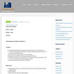 Component Assembler - Empire Workforce Solutions